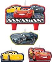 Disney Cars 3 taart kaarsjes set 4-delig