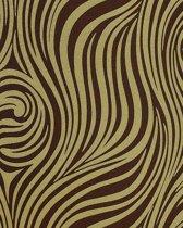 Neo behang met zebra-strepen EDEM 1016-15 olijf-groen bruin