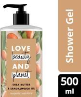 Love Beauty and Planet Douchegel Majestic Moisture - 500 ml - Shea Butter &  Sandalwood Oil