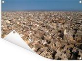 Een luchtfoto van de Afrikaanse huizen in Dakar Tuinposter 160x120 cm - Tuindoek / Buitencanvas / Schilderijen voor buiten (tuin decoratie) XXL / Groot formaat!
