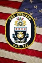 US Navy Submarine USS Chicago (SSN 721) Crest Badge Journal