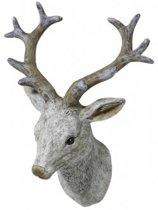 Ornament hertenkop 18x16x18 cm RAF wit 1