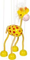 Marionet: GIRAFFE H27cm, hout, 3+
