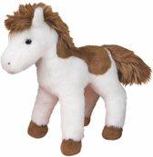 American Paint paard knuffel wit/bruin 20 cm - knuffeldier / knuffels
