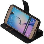 Zwart Samsung Galaxy S6 TPU wallet case - telefoonhoesje - smartphone hoesje - beschermhoes - book case - booktype hoesje HM Book
