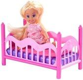 Poppen | Mini Poppen - Cute Girl Slaap Speelset