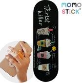MOMO STICK / MOMOSTICK – verstelbare flexibele GSM vingerhouder / Telefoonring grip / vingerhouder / telefoonring standaard / selfiehouder / telefoonhouder / ringhouder / telefoonstandaard – Koffie & IJSJES