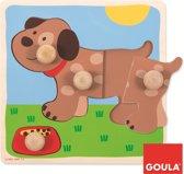 Goula houten inlegpuzzel hond 4 stukjes