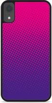 iPhone Xr Hardcase hoesje roze paarse cirkels