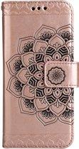 Shop4 - Samsung Galaxy S8 Hoesje - Wallet Case Vintage Mandala Rosé Goud