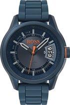 Boss Orange HO1550049 Honk Kong Horloge - Rubber - Blauw - Ø 46 mm