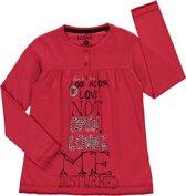 Losan Meisjes Tuniek Rood met opdruk en studs - H23- Maat 128