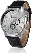 Hidzo Horloge Geekthink ø 37 mm - Zilver - Inclusief horlogedoosje