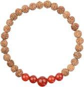 Carneool Rood Yoga Mala Armband | Merope | L - 20 cm