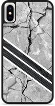 iPhone X Hardcase hoesje Marble Wood