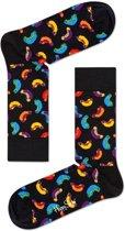 Happy Socks - Hot Dog Junkfood - Zwart Multi - Unisex - Maat 41-46