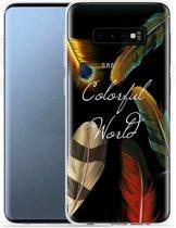 Galaxy S10e Hoesje Feathers World