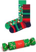 Happy Socks Candy Cane Christmas Giftbox - Maat 36-40