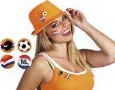 24 stuks: Set a 4 Buttons Nederland 4 assorti - 3cm