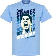 Luis Suarez Uruguay Portrait T-Shirt - M