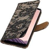 Wicked Narwal   Lace bookstyle / book case/ wallet case Hoesje voor Samsung Galaxy S8 Plus Zwart