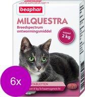 Beaphar Milquestra Kat - Anti wormenmiddel - 6 x 2 tab 2 Tot 12 Kg