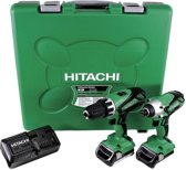 Hitachi KC18DGL/JB 18V Li-Ion accu Klopboormachine (DV18DGL) & Slagschroevendraaier (WH18DGL) combiset (2x 1.5Ah accu) in koffer