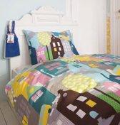 Beddinghouse Houses Dekbedovertrek - Eenpersoons - 140x200/220 cm - Roze
