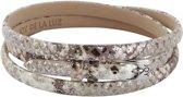 Joy de la Luz Leather Bracelet Python Silver Armband JB243 (62 cm)