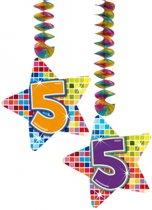 Hangdecoratie sterren 5 jaar