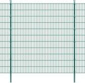 vidaXL Dubbelstaafmat 2008 x 2230 mm 4 m groen 2 stuks