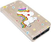 ADEL Kunstleren Book Case Hoesje voor iPhone 5/5S/SE - Eenhoorn Goud