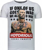 Local Fanatic Conor McGregor - Rhinestone T-shirt - Wit - Maten: S