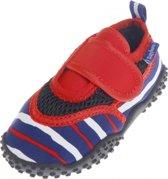 UV waterschoenen blauw/rood gestreept voor kinderen 30/31 (4-8  jr)