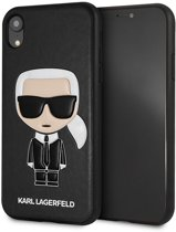 Karl Lagerfeld Backcover hoesje Zwart - Cool Karl - TPU - iPhone XR  - Siliconen rand