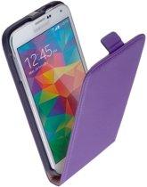 Samsung Galaxy S6 Leder Flip Case Paars