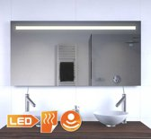 Badkamer LED spiegel met stopcontact verwarming en sensordimmer 120 cm