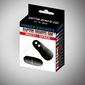 Power Escorts - Raptor Remote Egg - Afstand Bedienbaar - Vibrerend Ei - BR41 – Zwart