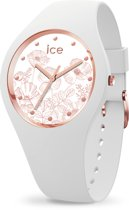 Ice-Watch ICE flower IW016662 Horloge - Siliconen - Wit  - Ø 34 mm