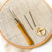 Punch Naald Set met meerdere maten naalden | Nieuw model naald voor punch needle embroidery met borduurgaren en dunne wol of haakkatoen Punch naald Set