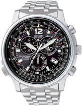 Citizen Eco-Drive Radio Controlled - Horloge - 46 mm - Zilverkleurig / Zwart - Solar uurwerk