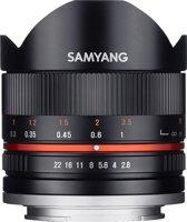 Samyang 8mm F2.8 Umc Fisheye II - Prime lens - geschikt voor Sony Systeemcamera - Zwart