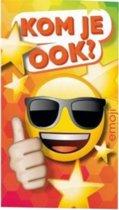Interstat - Uitnodigingskaarten - Emoji zonnebril - 6st.