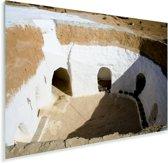 Meerdere kamers bij Matmata in Tunesië Plexiglas 180x120 cm - Foto print op Glas (Plexiglas wanddecoratie) XXL / Groot formaat!