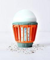2 in 1 Mosquitokiller - Insectenlamp - Anti Muggenlamp - Campinglamp - Oranje