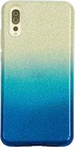 Huawei P20 Semi Glitter telefoonhoesje - Blauw