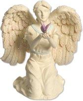 Engelbeeldje met Vlinder en Kleurrijke Accenten (10 cm)