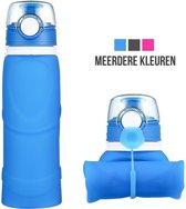 Opvouwbare Waterfles | Drinkfles | Flexibel | Oprolbaar | Blauw | 750ML