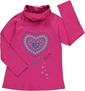 Losan Meisjes Shirt Roze met opdruk - H18 - Maat 128