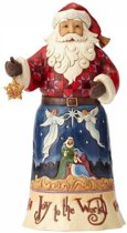 Jim Shore beeldje - Heartwood Creek collectie - Joy to the World - Christmas Song Santa Serie